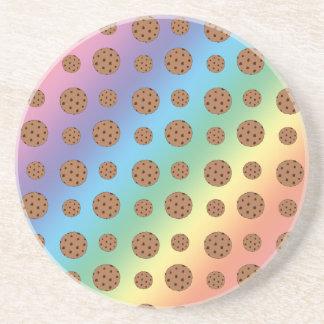 Modelo de las galletas de microprocesador de choco posavasos cerveza