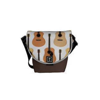 Modelo de las guitarras acústicas bolsa messenger