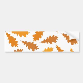 Modelo de las hojas de otoño pegatina de parachoque