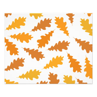 Modelo de las hojas de otoño tarjetas publicitarias