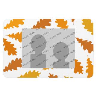 Modelo de las hojas de otoño imanes