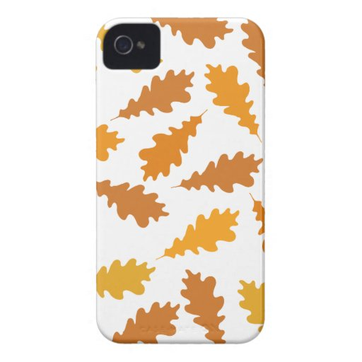Modelo de las hojas de otoño iPhone 4 carcasas