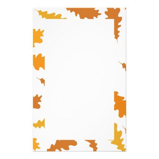 Modelo de las hojas de otoño  papeleria de diseño