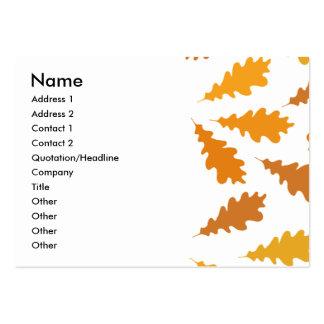 Modelo de las hojas de otoño tarjetas de negocios