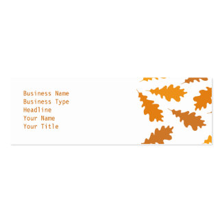 Modelo de las hojas de otoño plantilla de tarjeta de negocio