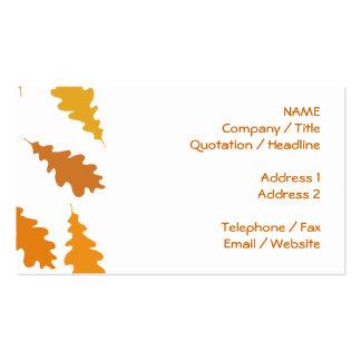 Modelo de las hojas de otoño tarjeta de visita