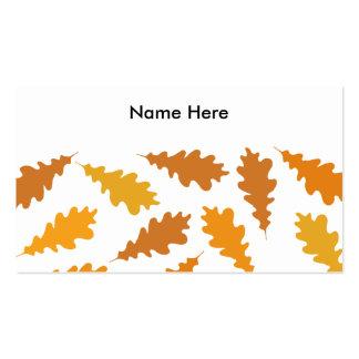 Modelo de las hojas de otoño tarjetas de visita