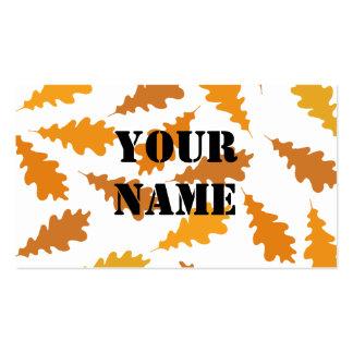 Modelo de las hojas de otoño plantilla de tarjeta de visita