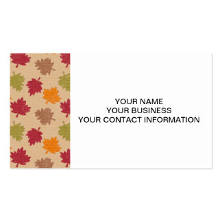 Modelo de las hojas de otoño tarjeta personal