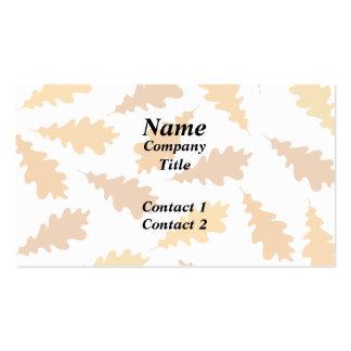 Modelo de las hojas de otoño plantillas de tarjeta de negocio