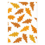 Modelo de las hojas de otoño tarjeta de negocio