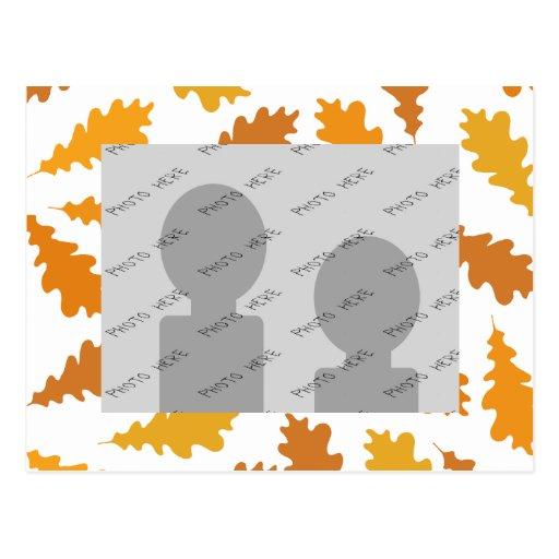 Modelo de las hojas de otoño tarjetas postales