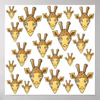 Modelo de las jirafas impresiones