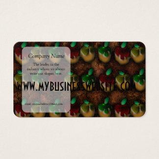 Modelo de las manzanas de caramelo tarjetas de visita