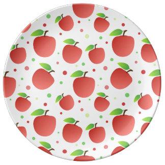 Modelo de las manzanas platos de cerámica