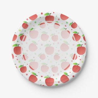 Modelo de las manzanas plato de papel de 7 pulgadas