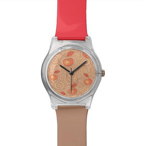 Modelo de las manzanas relojes de pulsera