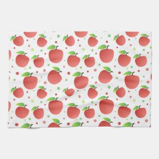 Modelo de las manzanas toalla de cocina