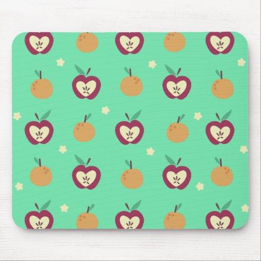 Modelo de las manzanas y de los naranjas alfombrillas de raton