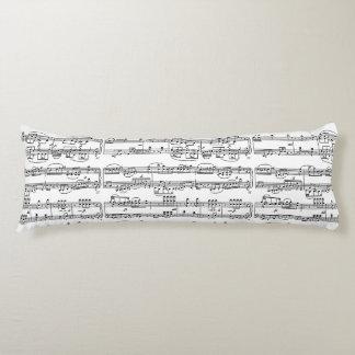 modelo de las música-notas almohada