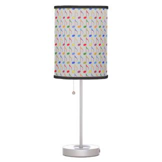 modelo de las notas musicales del color lámpara de escritorio