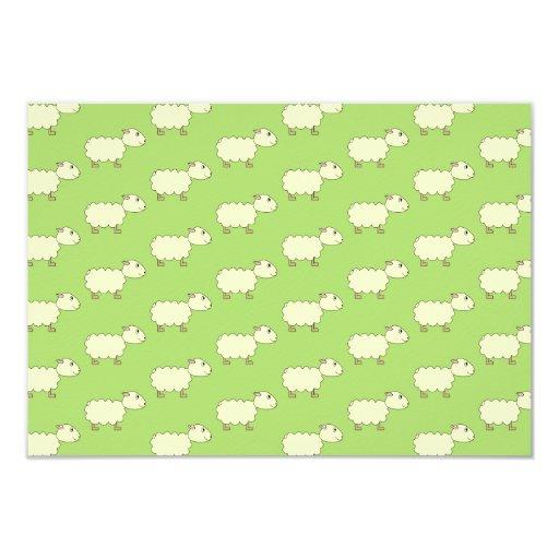 Modelo de las ovejas invitación 8,9 x 12,7 cm