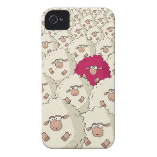 Modelo de las ovejas iPhone 4 Case-Mate funda