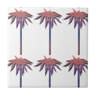 Modelo de las palmeras azulejo cuadrado pequeño