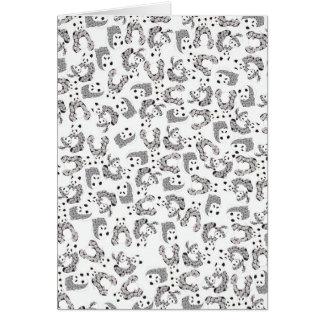 Modelo de las pandas del baile de la diversión tarjeta de felicitación