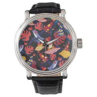 Modelo de las ranas de los amantes reloj de mano