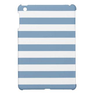 Modelo de las rayas azules de la oscuridad iPad mini cobertura