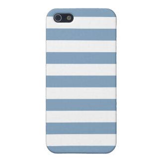 Modelo de las rayas azules de la oscuridad iPhone 5 carcasas