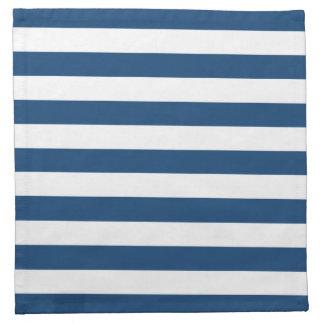 Modelo de las rayas azules de Mónaco Servilletas De Papel