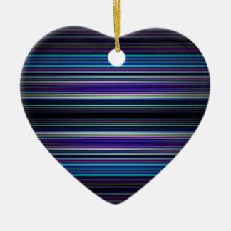 Modelo de las rayas azules adorno de cerámica en forma de corazón