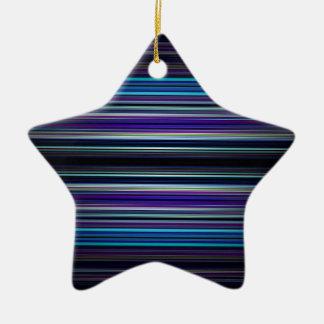 Modelo de las rayas azules adorno de cerámica en forma de estrella