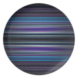 Modelo de las rayas azules platos