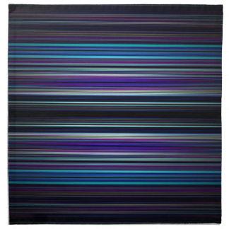 Modelo de las rayas azules servilletas imprimidas