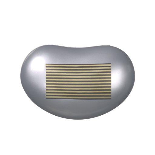 Modelo de las rayas negras de la hoja de oro latas de caramelos