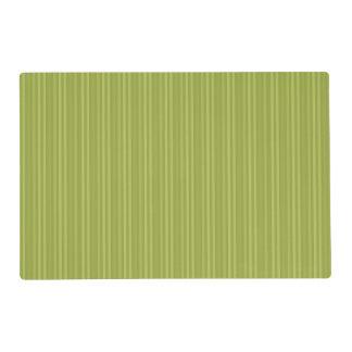 Modelo de las rayas verticales del verde verde tapete individual