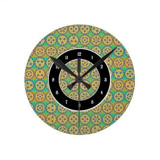 Modelo de las ruedas dentadas reloj redondo mediano