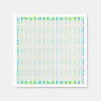 Modelo de las tablas hawaianas del trullo servilleta de papel