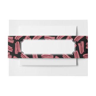 Modelo de las tiras de tocino cintas para invitaciones