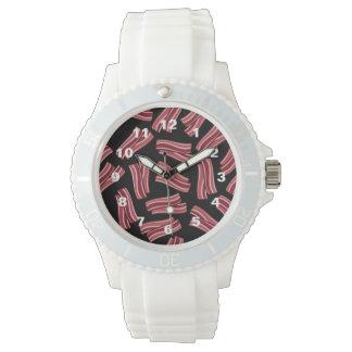 Modelo de las tiras de tocino relojes de pulsera