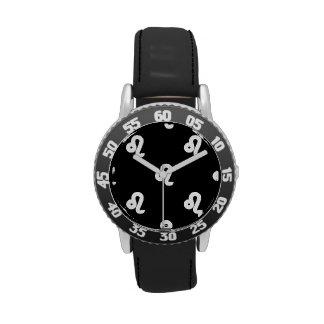 Modelo de Leo blanco y negro Reloj De Mano