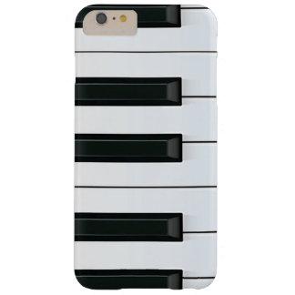 Modelo de llaves blanco y negro elegante del piano funda de iPhone 6 plus barely there