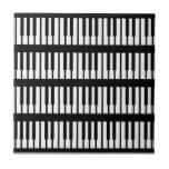 Modelo de llaves del piano azulejos