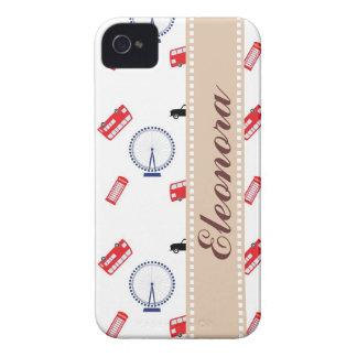 Modelo de Londres Case-Mate iPhone 4 Carcasa