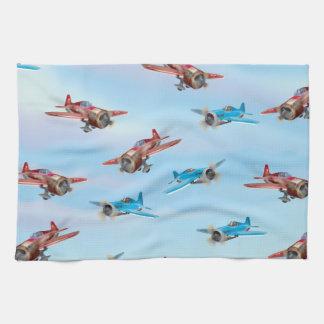 Modelo de los aeroplanos del juguete toallas
