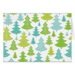 Modelo de los árboles de navidad del día de fiesta tarjeta