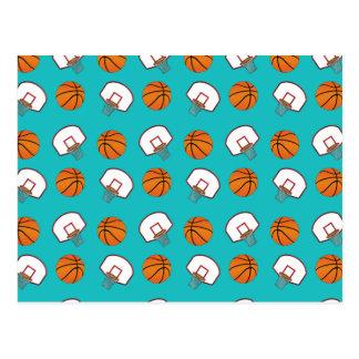 Modelo de los baloncestos y de las redes de la postal